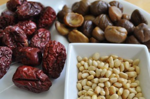 jujubes, chestnuts and pine nuts