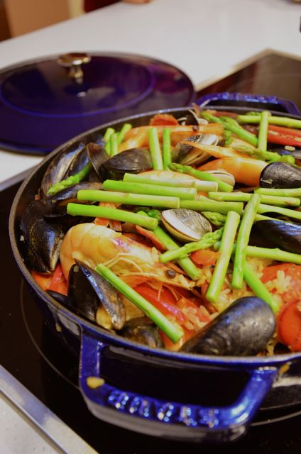 Paella for Christmas party in Seoul