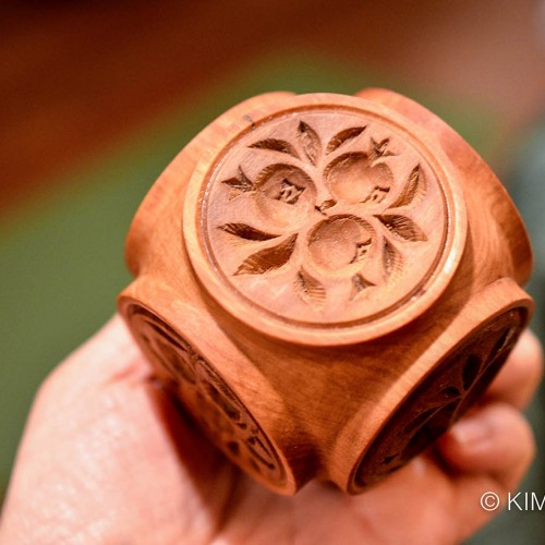 Traditional Korean 3 pomegranate rice cake mold stamp which is my Kimchimari logo