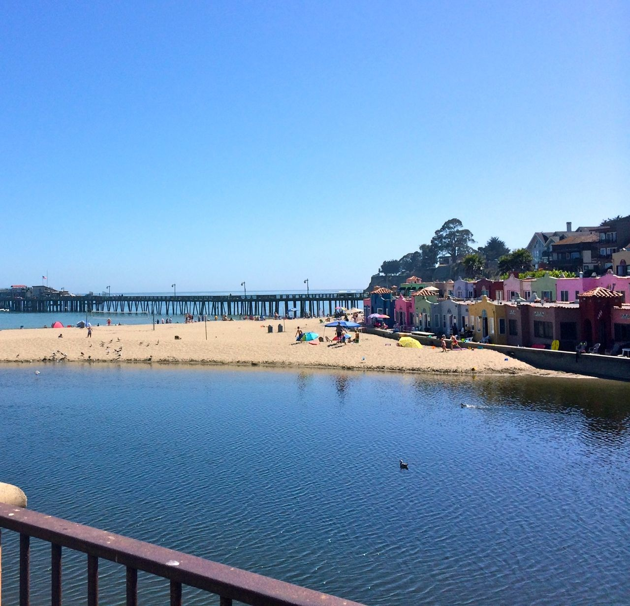 Capitola Beach view from Mr Toot's balcony