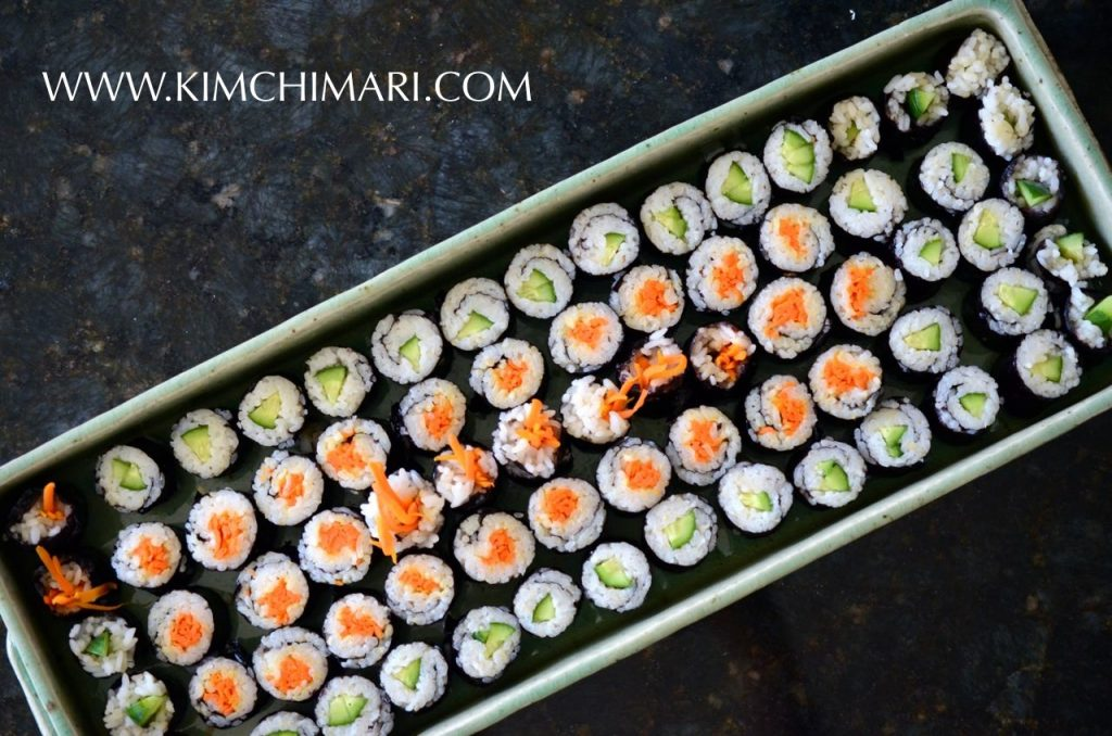 Mini Kimbap tray - kimbap two ways