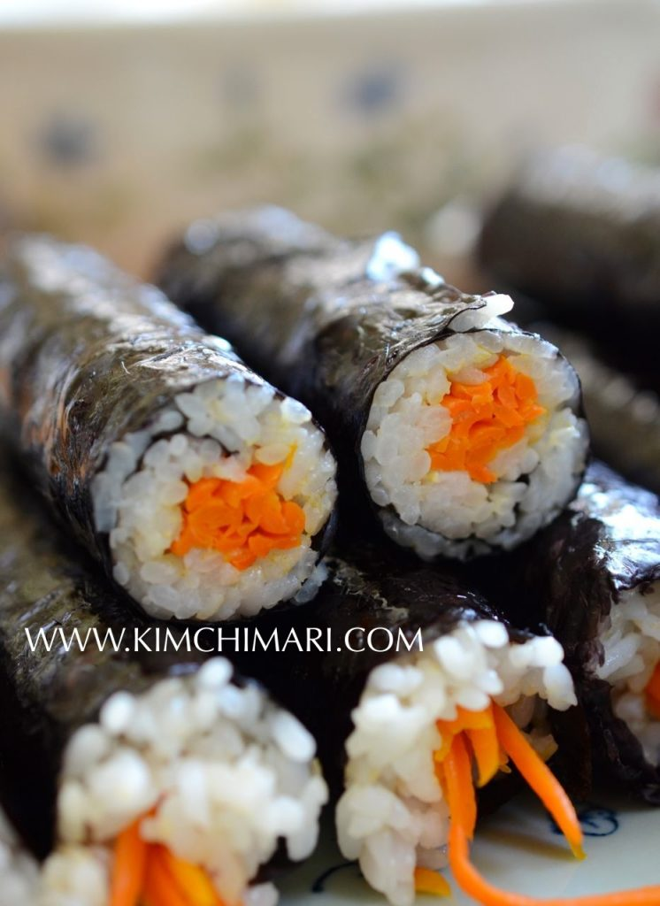 Mini Mayak or Drug Kimbap with carrots