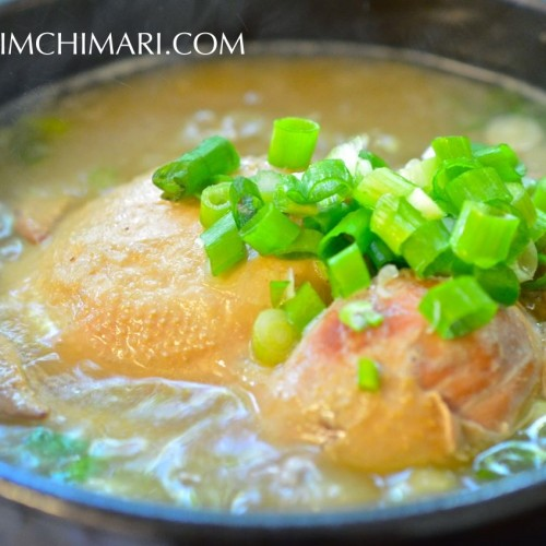 Samgyetang-Korean Ginger Chicken Soup at our local restaurant BN Chicken