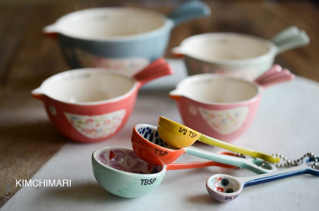 My pretty measurement cups and spoons from Anthropologie~