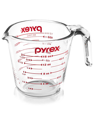 Pyrex glass WET measuring cup