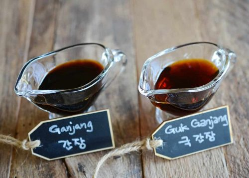 Korean soy sauce for soups and regular soy sauce