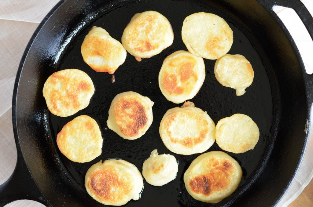 gamjajeon or potato fritters browned