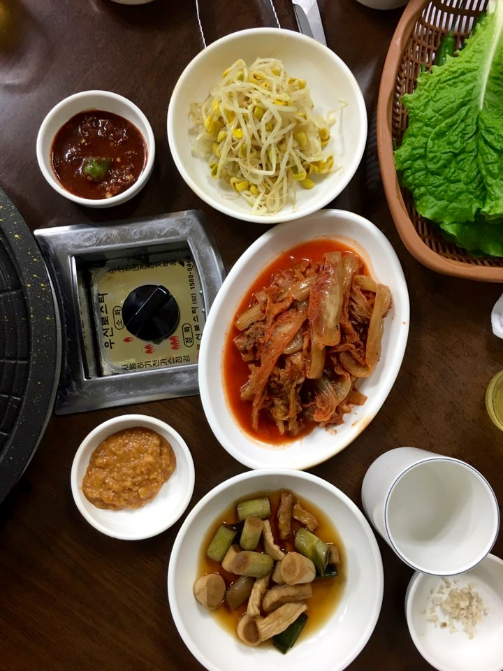 Banchan for Korean pork bbq