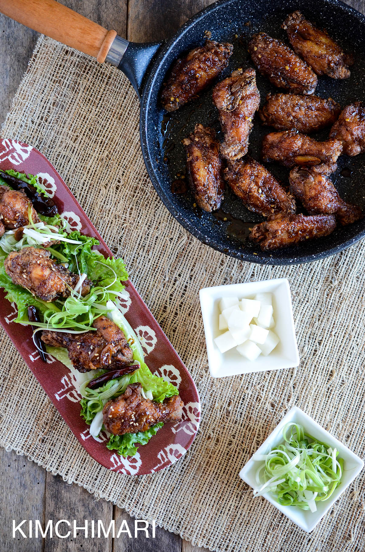 Korean Fried Chicken with Sweet Soy Glaze
