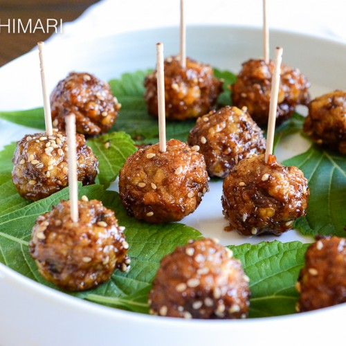 Korean cocktail meatballs with Sweet Soy Glaze