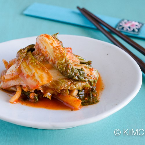 Korean Vegan Cabbage Kimchi with apples and ginger