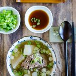 Galbitang (Korean Short Rib Soup) Instant Pot Version - Serving Suggestion