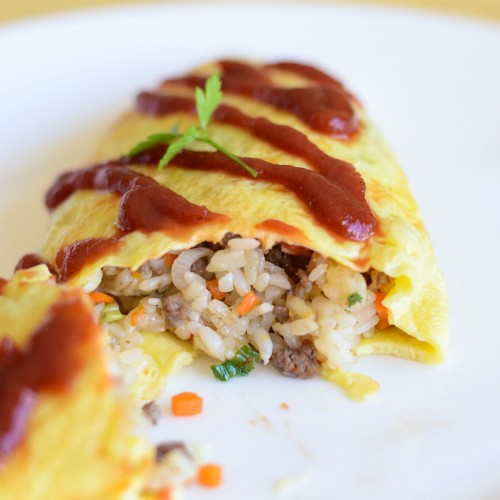 Omurice Omelette Rice Recipe Closeup