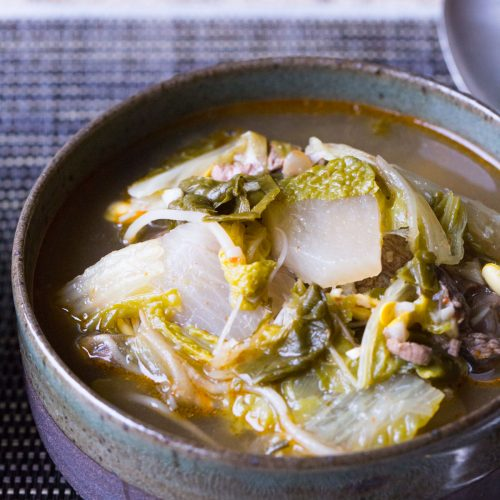 Instant Pot Korean Beef Cabbage Radish Soup