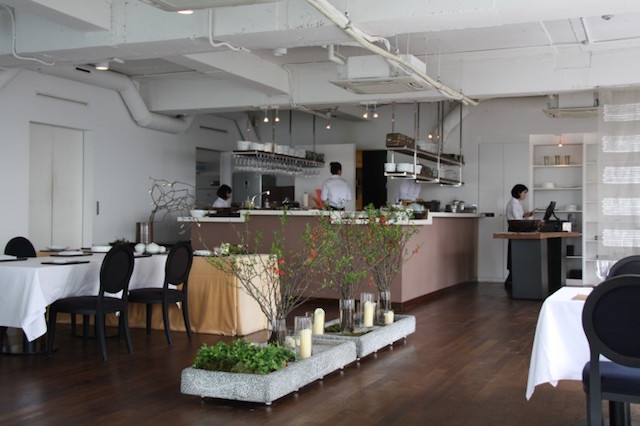 Poom Seoul Interior view of table and kitchen