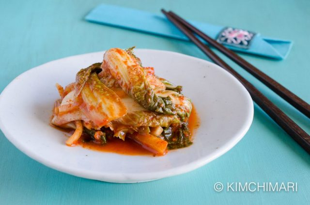 Vegan Cabbage Kimchi with Apples and Ginger
