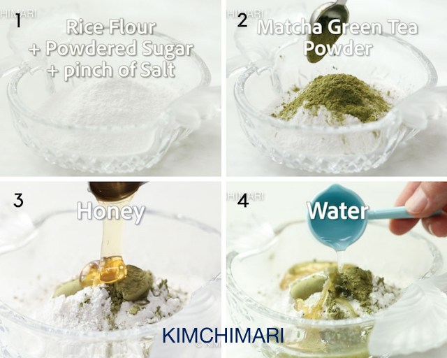 step by step photos of how to make match green tea cookie dough