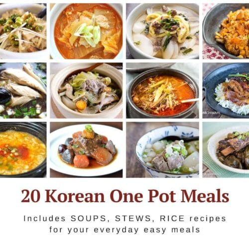 collage image of 12 out of 20 Korean one-pot meals