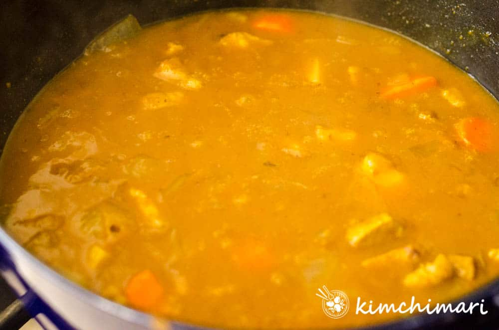 korean curry all done in pot